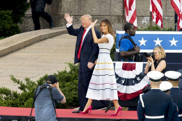 Ce a purtat Melania Trump la festivitățile Zilei Statelor Unite ale Americii